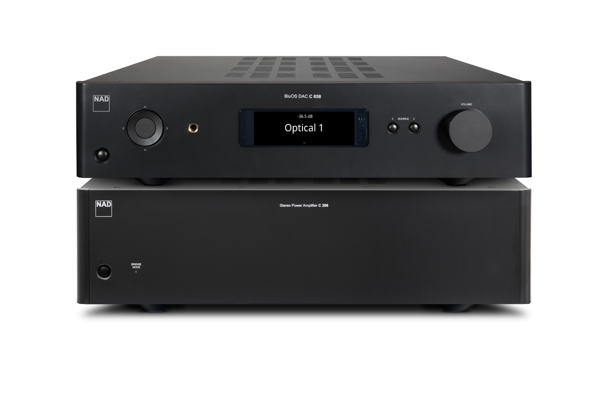 NAD C 298 Amplifier/C 658 BluOS Streaming DAC/Preamp
