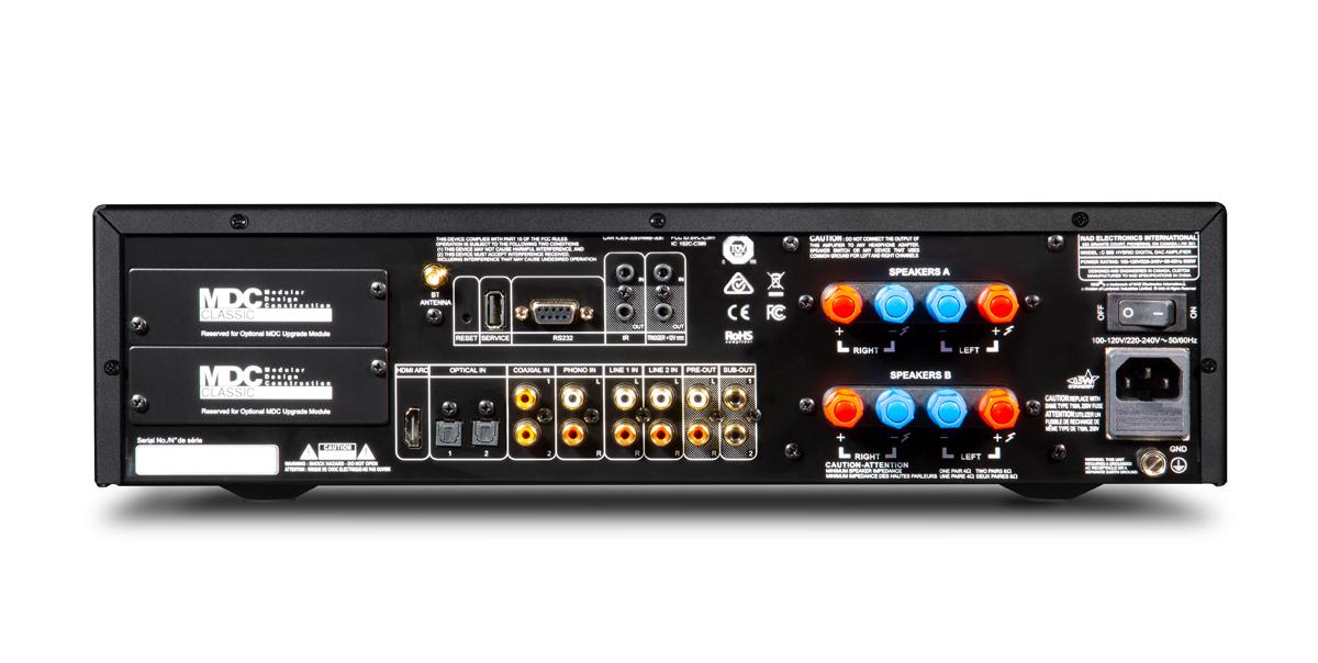 NAD C 399 HybridDigital DAC Amplifier Rear Panel